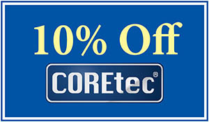 10% OFF COREtec® WPC with cork attached underlayment!