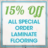 15% Off All Special Order Laminate Flooring