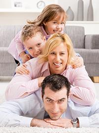 Family enjoying their new flooring