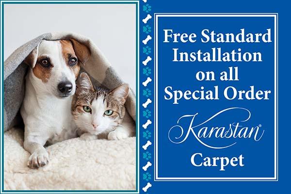Free Standard Installation on all Special Order Karastan Carpet