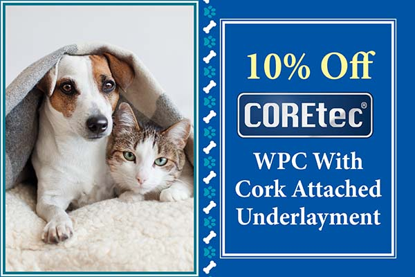 10% Off Coretec  WPC With Cork Attached Underlayment