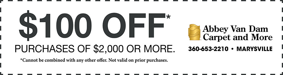Take $100 off purchases of $2,000 or more