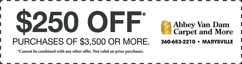 Take $250 off purchases of $3,500 or more