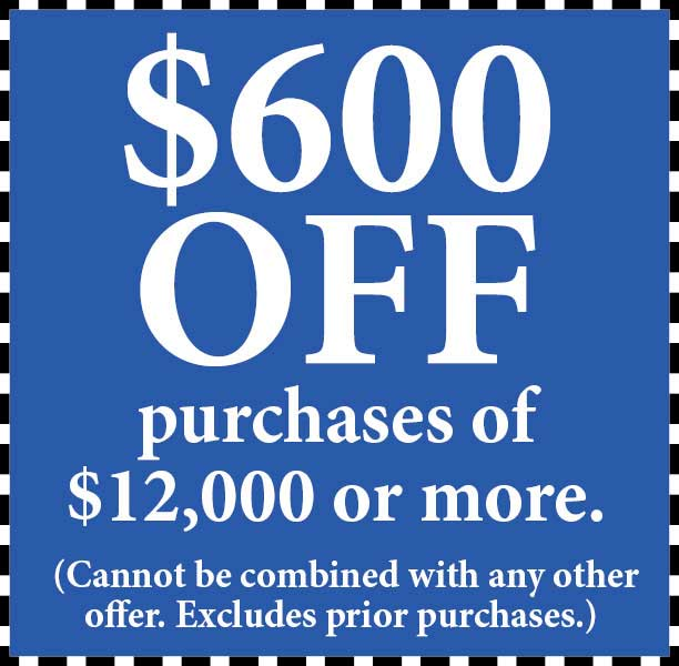 Take $600 Off purchase of $12000 or more at Abbey Van Dam Carpet in Marysville.